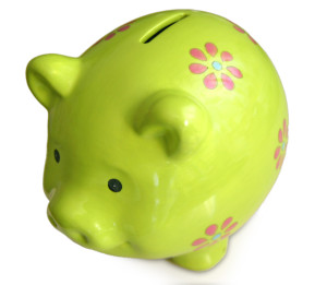 money saving pig